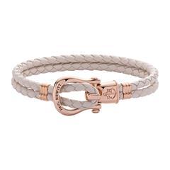 Armband Phinity aus beigem Leder, rosé
