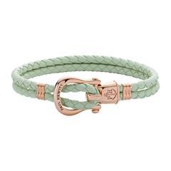 Phinity Armband für Damen aus Leder mint rosé