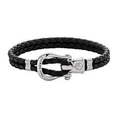 Damen Armband Phinity aus schwarzem Leder