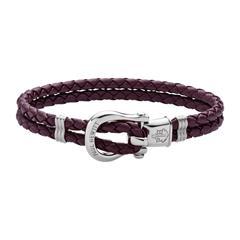 Beerenfarbiges Phinity Armband aus Leder
