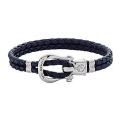 Phinity Armband aus dunkelblauem Leder für Damen