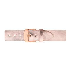Uhrenarmband Leder Roségold 16 mm Bandanschluss