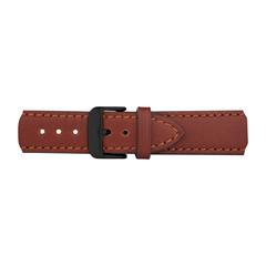 Uhrenarmband Leder Braun Schwarz 20 mm Bandanschluss