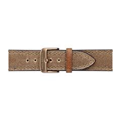 Uhrenarmband Canvas Braun Bronze 20 mm Bandanschluss