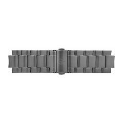 Uhrenarmband Edelstahl Dunkelgrau 20 mm Bandanschluss
