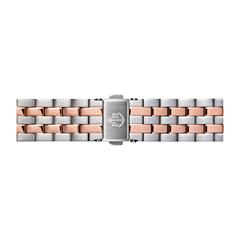 Uhrenarmband Edelstahl Silber/Rosé 16 mm Bandanschluss