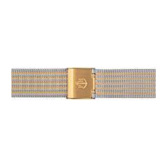 Uhrenarmband Mesh Gold/Silber 16 mm Bandanschluss