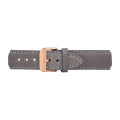 Uhrenarmband Leder Grau Rosé 20 mm Bandanschluss