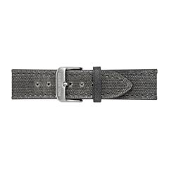 Uhrenarmband Canvas Grau Silber 20 mm Bandanschluss