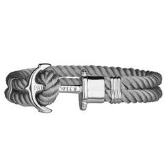 Phrep Armband Grau Anker silber