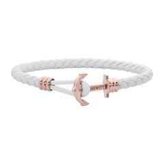 Phrep Lite Armband aus weißem Echtleder, rosé