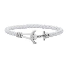 Ankerarmband Phrep Lite aus weißem Leder
