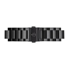 Uhrenarmband aus schwarzem Edelstahl, 20 mm
