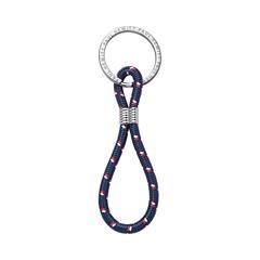 Nylon And Stainless Steel Key Ring, Dark Blue