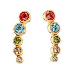 Ear Climber Rainbow für Damen aus Edelstahl, vergoldet