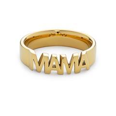 Ring Mama für Damen aus Edelstahl, gold