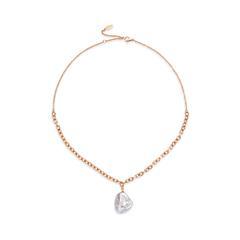 Halskette Treasure für Damen aus Edelstahl, rosé