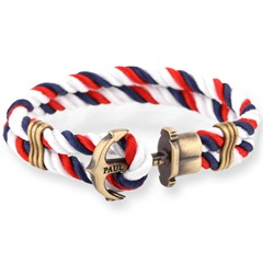 Phrep Anker Armband Blau-Rot-Weiss