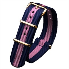 PAUL HEWITT Uhrenarmband Damen Gold PH5GNS-05 Blau-Rosa