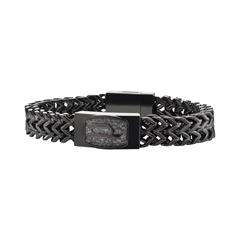 Armband schwarzem Edelstahl
