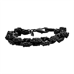 Edelstahl Armband schwarz Ancient