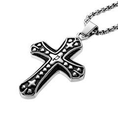 Kette schwarzes großes Kreuz