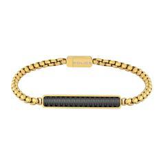 Gravierbares Armband Gansu aus Edelstahl, vergoldet