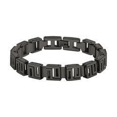 Herren Armband aus schwarzem Edelstahl