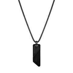 Halskette für Herren aus Edelstahl, gravierbar