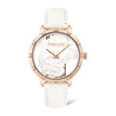 Ladies' Watch Marietas With Shimmering White Leather Strap