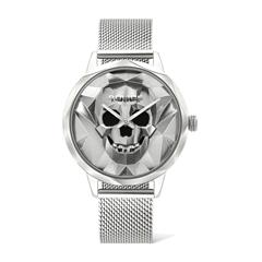 Anjar Watch For Ladies In Stainless Steel With Skull