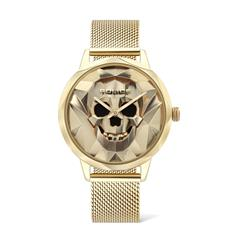 Quartz Watch Anjar For Ladies In Stainless Steel, Gold Plated