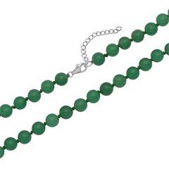 Perlenkette hellgrün facettierte Jadesteine