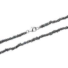 Blau-graue Halskette aus Süßwasserperlen