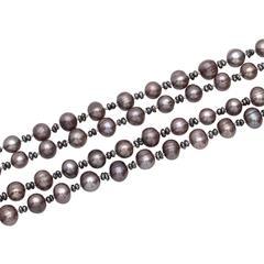 Echte Perlenkette aus Süßwasserperlen