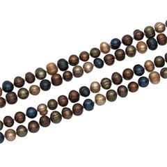 Edle Halskette aus echten Süßwasserperlen