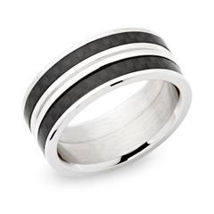 Ring Edelstahl Carboneinlage