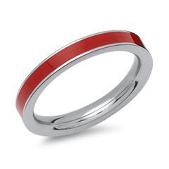 Roter Emaillering aus Edelstahl 3mm breit