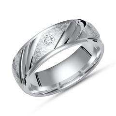 Ring 925 Silber eisgekratzt mit Zirkonia 5mm