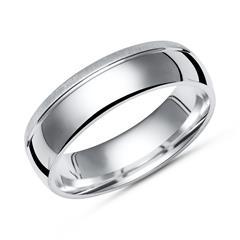 Moderner Ring 925 Silber teilpoliert 6mm breit
