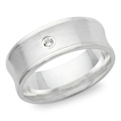 Ring 925 Silber Zirkonia polierte Kanten 7mm
