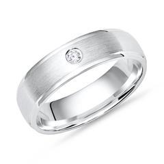 Schlichter Ring 925 Silber Zirkonia matt 5mm