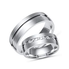 Trauringe 925 Silber: Partnerringe Zirkonia