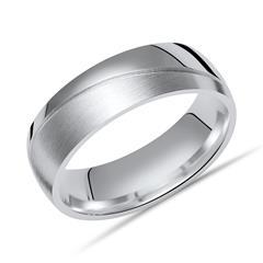 Ring 925er Silber matt/poliert 6,5 mm