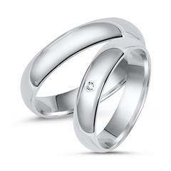 Wedding Rings Silver Wedding Rings Sterling Engraving Zirconia