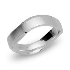 Wellenförmiger Ring 925 Silber 5mm breit