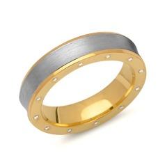 Massiver 925 Silber Ring mit Zirkoniabesatz