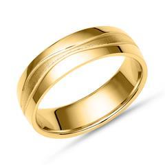 Vergoldeter Vivo Silber Fingerring teilpoliert