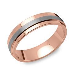 925er Vivo Silberring rosévergoldet 6mm breit