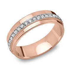 925 Vivo Silberring rosévergoldet 40 Zirkonia